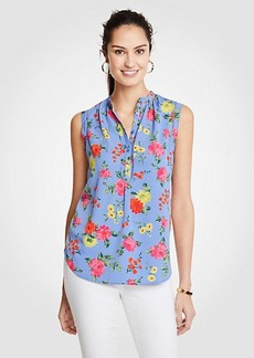 Island Floral Shirred Popover Shell