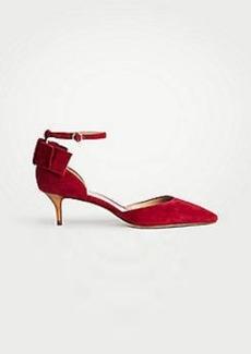 Ann Taylor Isolde Bow Kitten Heel Pumps