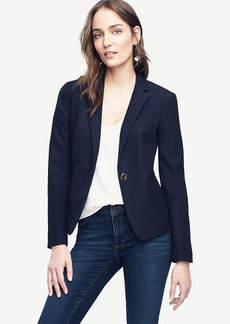 Ann Taylor Jacquard Single Button Blazer