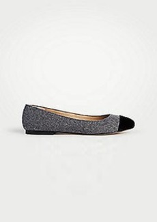 Ann Taylor Jada Flannel Cap Toe Flats