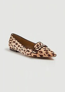 Ann Taylor January Leopard Print Haircalf Button Flats
