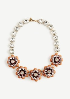 Ann Taylor Jeweled Flower Necklace