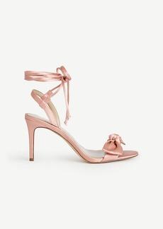 Ann Taylor Josette Lace Up Bow Sandals