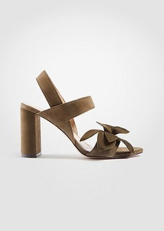 Ann Taylor Joy Suede Flower Heeled Sandals