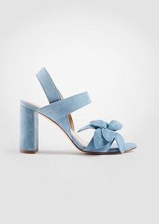 Ann Taylor Joy Suede Flower Heeled Sandals