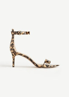 Kaelyn Leopard Print Patent Leather Strappy Sandals