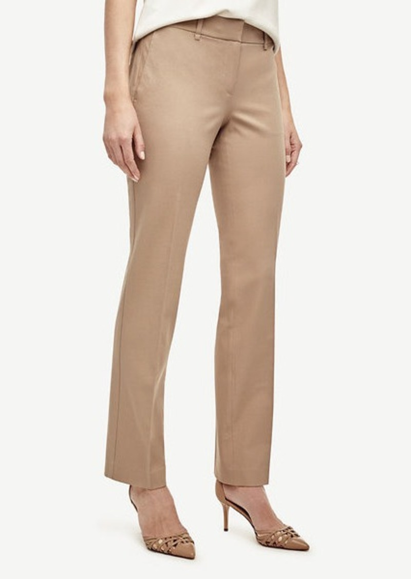 Ann Taylor Kate Cotton Blend Straight Leg Pants