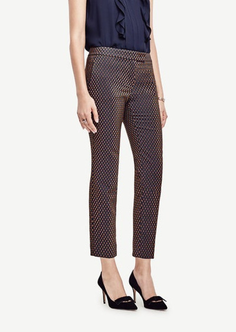 Ann Taylor Kate Geo Jacquard Everyday Ankle Pants