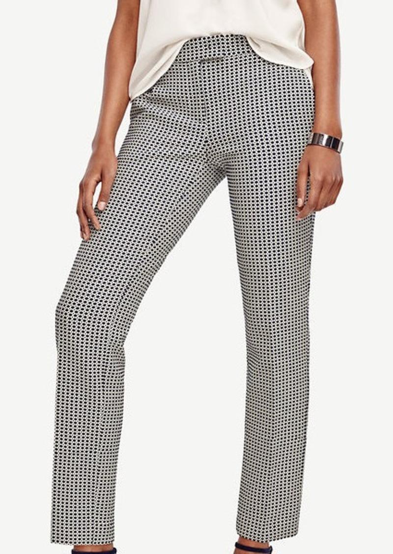 Ann Taylor Kate Jacquard Ankle Pants