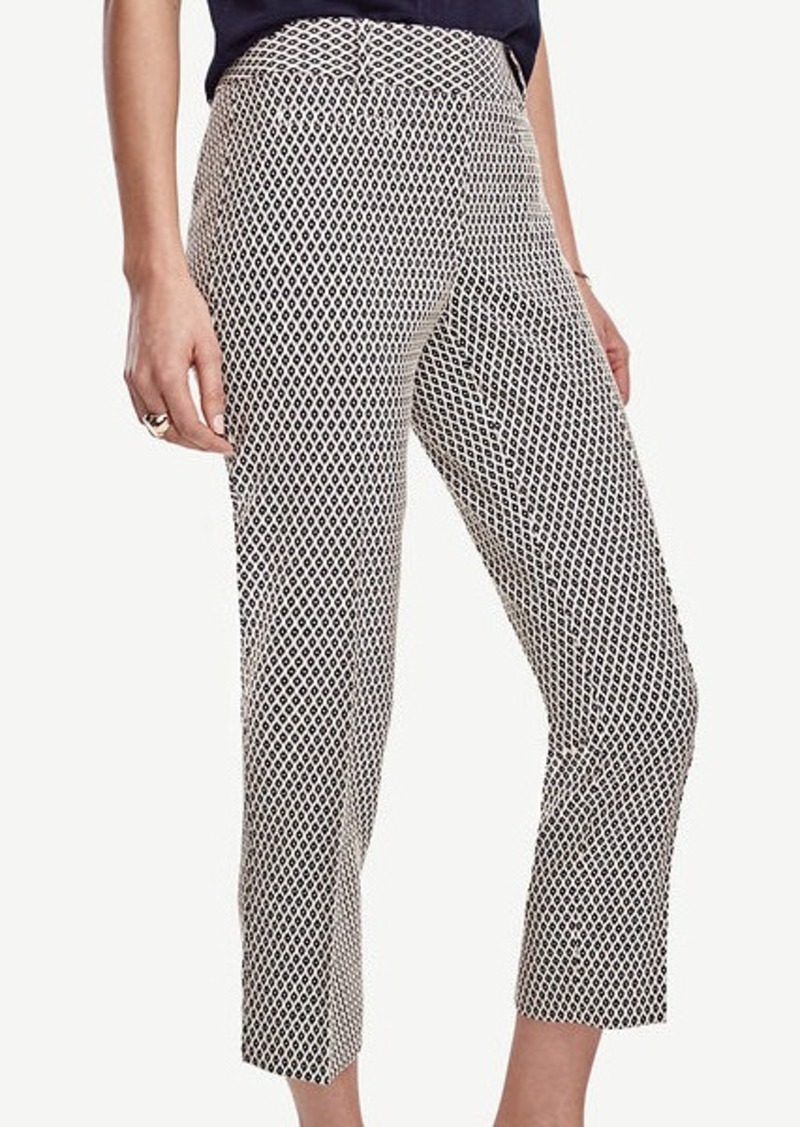 Ann Taylor Kate Jacquard Cropped Pants