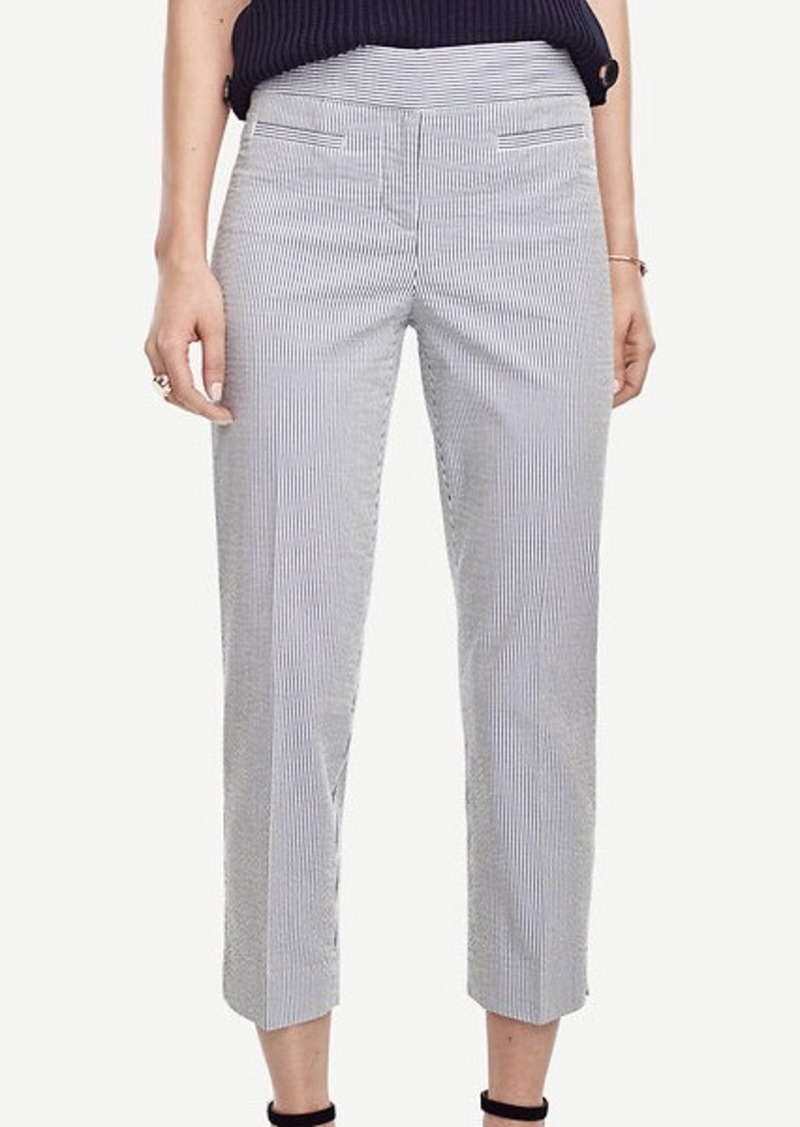 Ann Taylor Kate Seersucker Crop Pants