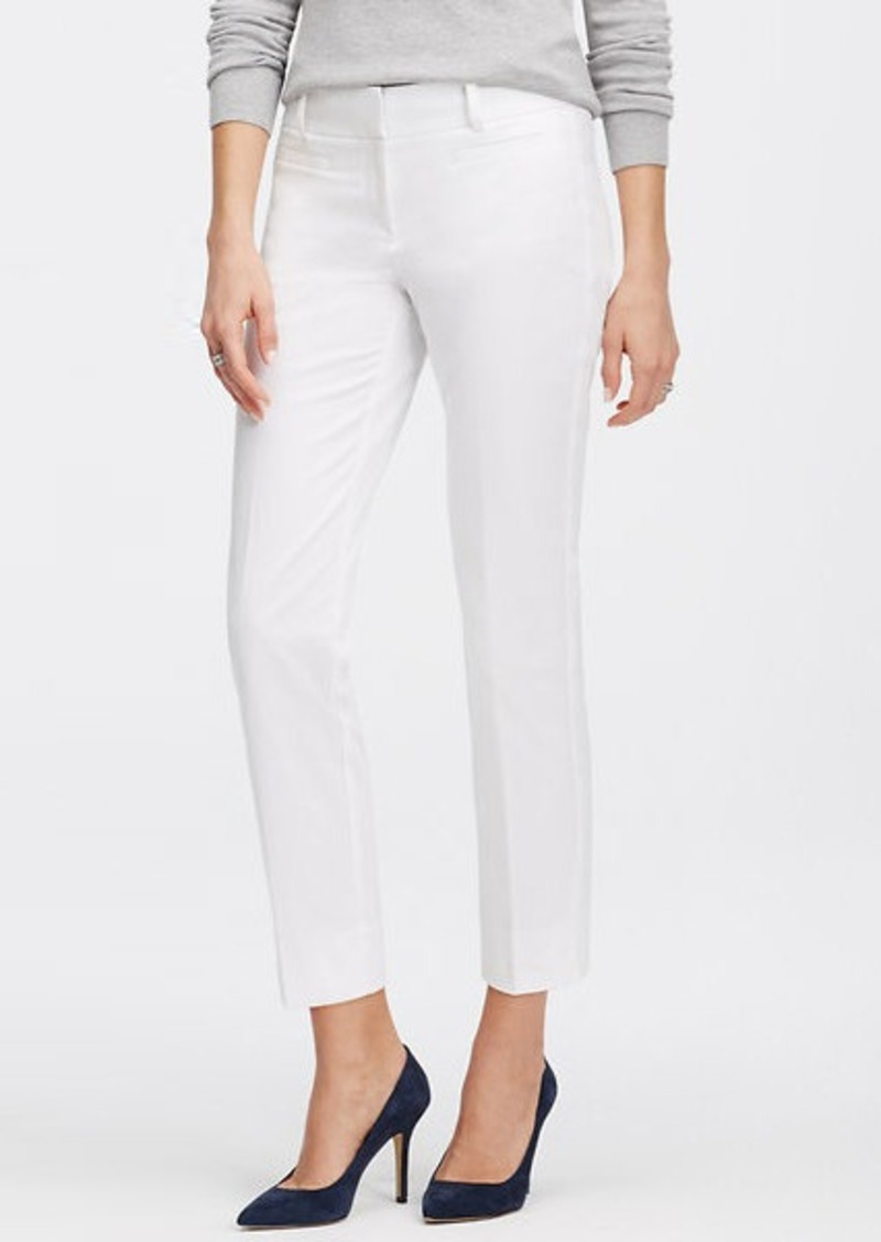 Ann Taylor Kate Stretch Cotton Cropped Pants