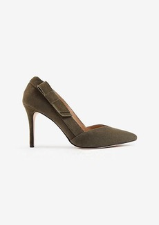 Ann Taylor Kayla Suede Side Bow Pumps