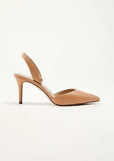 Ann Taylor Kerry Leather Slingback Pumps