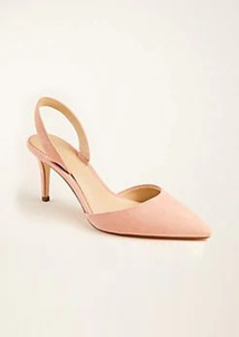 Ann Taylor Kerry Suede Slingback Pumps