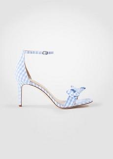 Kinsley Gingham Bow Heeled Sandals
