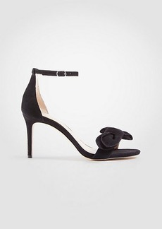 Ann Taylor Kinsley Suede Bow Heeled Sandals