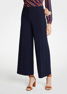 Ann Taylor Knit Wide Leg Crop Pants