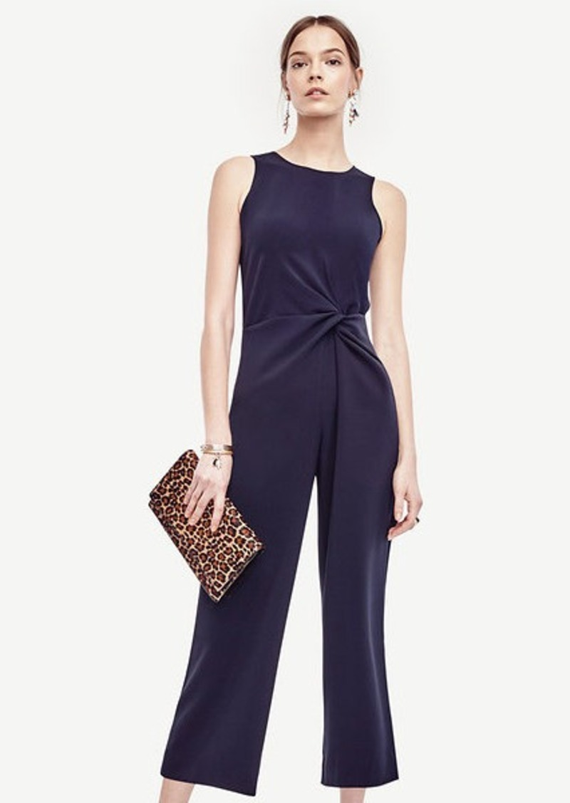 Ann Taylor Knot Sleeveless Jumpsuit