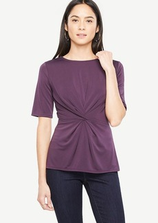 Knotted Elbow Sleeve Top