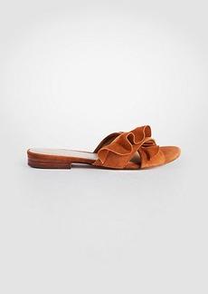 Krissy Suede Ruffle Slide Sandals