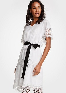 Ann Taylor Lace Belted Dress