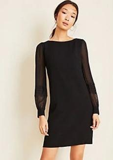 Ann Taylor Lace Clip Dot Sleeve Shift Dress