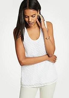 Ann Taylor Lace Front Shell