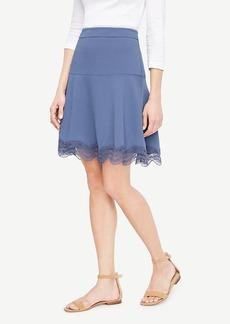 Ann Taylor Lace Hem Flounce Skirt