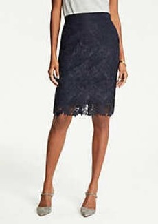 Ann Taylor Lace Pencil Skirt