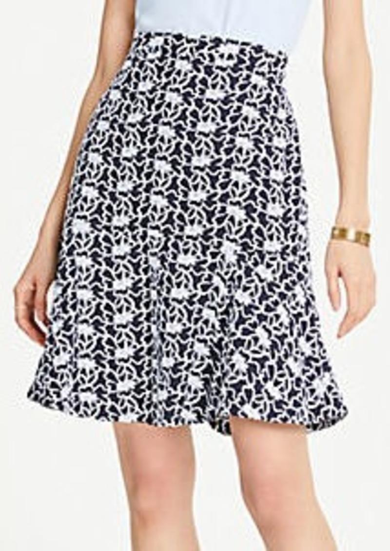 Ann Taylor Lace Peplum Skirt