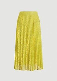 Ann Taylor Lace Pleated Midi Skirt