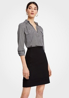 Ann Taylor Lace Trim A-Line Skirt