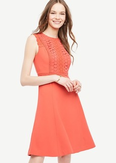 Lace Trim Flare Dress