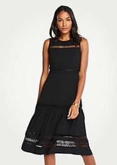 Ann Taylor Lace Trim Midi Dress