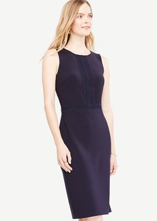 Lace Trim Sheath Dress