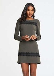 Ann Taylor Lace Trim Shift Dress