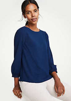 Ann Taylor Lace Trim Top