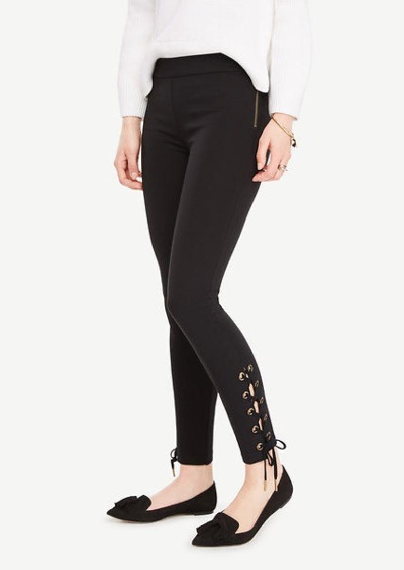 988de91fbfa2b3 Ann Taylor Lace Up Leggings Now $14.94