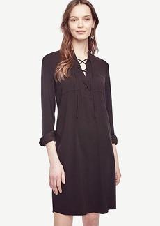 Ann Taylor Lace Up Shirtdress