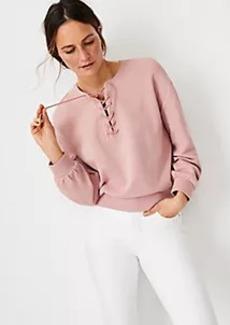 Ann Taylor Lace Up Sweatshirt