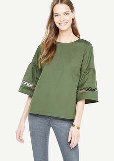 Lacy Flare Sleeve Top