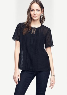 Lacy Pleated Tee