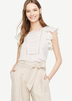 Lacy Ruffle Sleeve Top