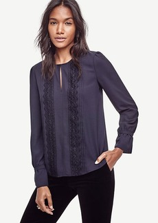 Lacy Split Neck Blouse