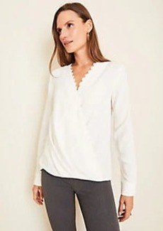 Ann Taylor Lacy Wrap Top