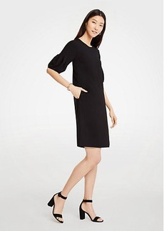 Ann Taylor Lantern Puff Sleeve Shift Dress