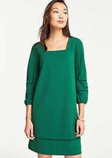 6790377767f3 Ann Taylor Lantern Sleeve Cutout Shift Dress