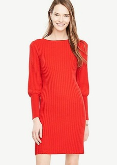 Ann Taylor Lantern Sleeve Sweater Dress