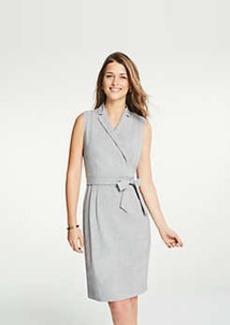 Ann Taylor Lapel Belted A-Line Dress